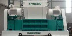Municipal Solid Waste Twin Shaft Shredder