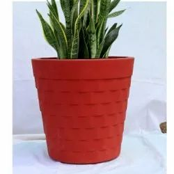 FRP Red Decorative Flower Pot