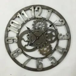 Grey Analog Round Wall Clock, For Home,Office etc