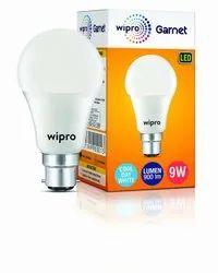 Round Cool daylight Wipro Garnet 9 Watt LED Bulb