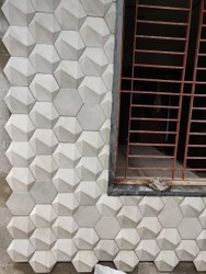 Concrete 3D Wall Tiles, Thickness: 33-35MM