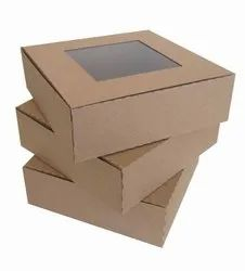 Corrugated Kraft Paper Custom Printed Square Duplex Box, For Gift & Crafts, Size(LXWXH)(Inches): 15 X 15 X 5 Inch