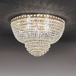 11 Inch Warm White Round Crystal Chandeliers, For Hotel