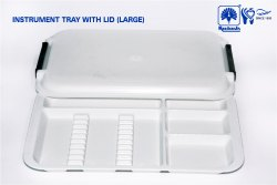 INSTRUMENT TRAY WITH LID(LARGE)