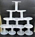 White Plastic Spools Empty Wire Spools Thread String Bobbin For Craft Cord Rope Chain Roll A3