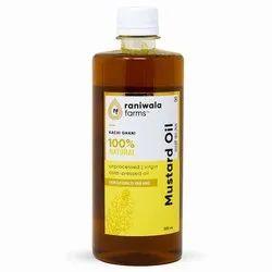 Raniwala Farms Yellow 500 ML Cold Pressed Virgin Mustard Oil, Packaging Type: Plastic Bottle
