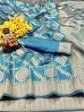 Present Soft Silk Saree With Weaving Work Good Looking Saree