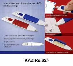 Letter Opener With Staple Remover