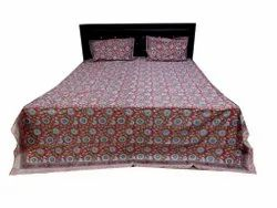 Block Print Cotton Bedsheet With Two Pillow