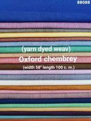 Oxford Chambray Yarn Dyed Shirting Fabric