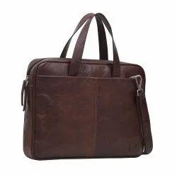 Brown Mens Leather Sling Bag
