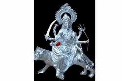 Silver White Metal Durga Statue