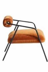 Jassi Brothers Orange Designer Restaurant Iron Chair