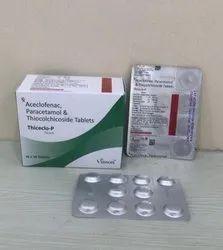 Aceclofenac 100 Mg + Paracetamol 325 Mg +Thiocolchicoside 4 Mg