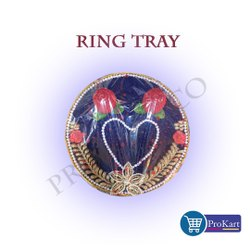 Prokart Wood Ring Holder With Name/decorative Tray/engagement Platter/sagan Plate