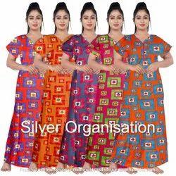 Cotton Printed Ladies Nighty Wear