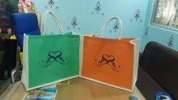 Jute Double Colour Bag
