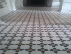 Residential Building Marble Flooring Design, For Indoor, Waterproof