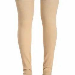 Women Beige Full Length Elastic Stockings