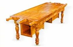 Wooden Dhroni On Table with Oil Vessel Drawers