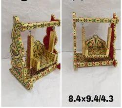 Wooden Laddu Gopal Jhula