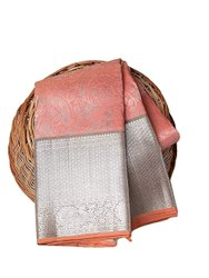 Muslin Silk Border Paithani Saree, Dry clean, 6 m (with blouse piece)