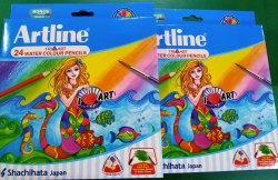 Multicolor Wood Artline Colour Pencil, For Colouring, Packaging Size: 17*12*2 Centimeters