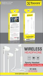TP Troops Wireless Headphone (S6 Style) 7079 (Box -25)  Earphone