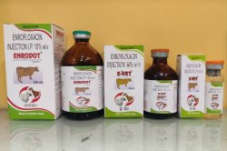 Enrofloxacin Injection 100 Mg, Prescription, Packaging Type: Glass Vial