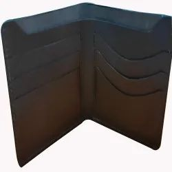 Male Square Fit Black Leather Wallet
