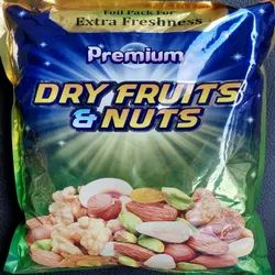 Dry Fruit Metallised Printed Three Side Seal Pouches