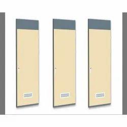 MS sheet Color Coated Plate Type Single Leaf Hinge Fire Resistant Door