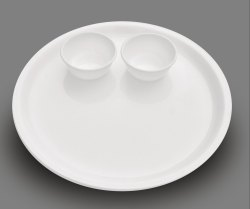 Plain Plastic Round Dinner Plate