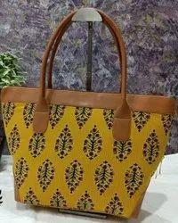 Printed Ikkat Tote Bags
