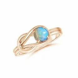 925 Sterling Silver Attractive Infinity Fire Ethiopian Opal Stone Rings