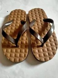 Hawaii Brown Rubber Padded Slippers, Size: 3