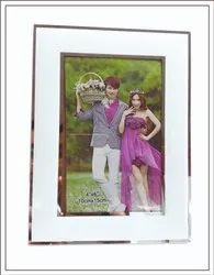 Glass White, Golden Small Photo Frame, For Decoration, Size: 4x6