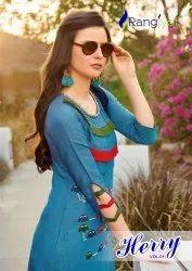 Rayon Formal Wear Herry Vol-1 Long Kurti, Wash Care: Dry clean