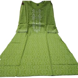 Casual Wear 3/4th Sleeve Ladies Straight Rayon Kurti, Wash Care: Handwash