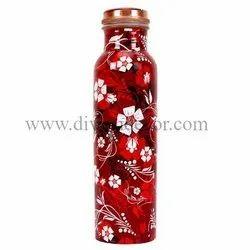 Meenkari Art Printed Copper Bottles