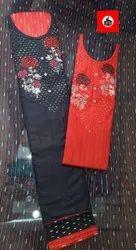 Red Black Salwar Suit