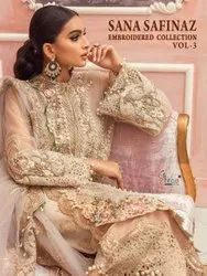 Shree Fabs Sana Safinaz Embroidered Vol 3 Net With Work Pakistani Suit Catalog