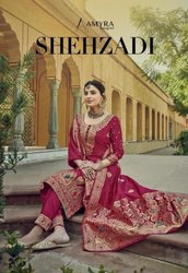Amyra Designer Shehzadi Silk Jacquard Designer Salwar Suit Catalog