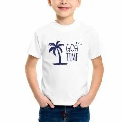 Cotton Casual Wear Kids Printed T Shirt, Size: 2-6 Years