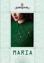 Rangoon Maria Pure Cotton Work Kurti With Pant Catalog