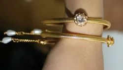 Round Wedding Latest Design Of Fancy Gold Plated Bangles