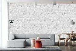 White Branch Print Non Woven Wallpaper, For Home,Hotel, Size: 57 Square Feet
