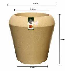Golden Round Spian Pot, For Garden