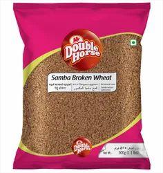 Brown Double horse Samba Broken Wheat 500g Broken wheat, High in Protein