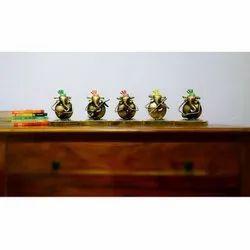 Iron Set Of 5 Musician Ganesh Handicraft